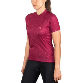PEARL iZUMi Select Escape Graphic Maillot manga corta Mujer, beet red wish